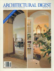 AD ARCHITECTURAL DIGEST THE INTERNATIONAL MAGAZINE OF FINE INTERIOR DESIGN/FEBRUARY 1995[image1]