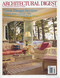 AD ARCHITECTURAL DIGEST THE INTERNATIONAL MAGAZINE OF DESIGN/MAY 2007