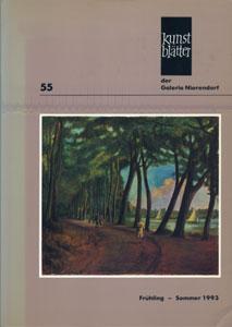 Kunstblatter der Galerie Nierendorf Nummer 55/Fruhling - Sommer 1993-1994