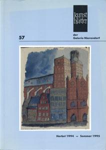 Kunstblatter der Galerie Nierendorf Nummer 57/Herbst 1994 - Sommer 1995