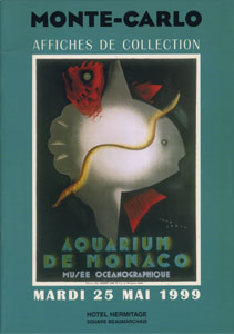 AFFICHES DE COLLECTION Mardi 25 Mai 1999 a 14 h.45 Monaco Hotel Hermitage
