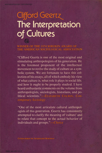 The Interpretation Of Cultures Selected Essays[image2]