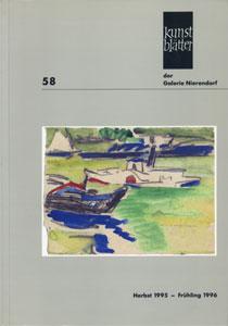 Kunstblatter der Galerie Nierendorf Nummer 58/Herbst 1995 - Fruhling 1996