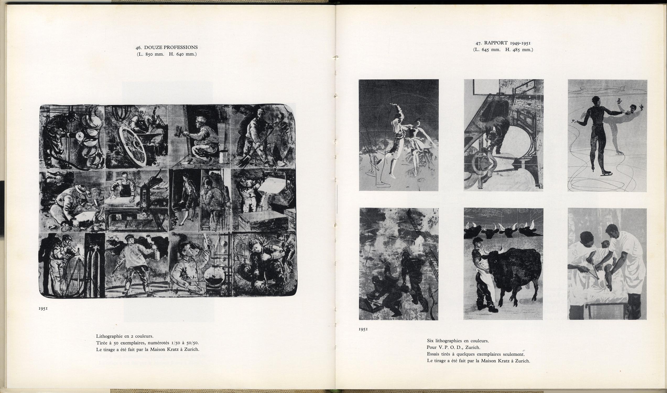 Catalogue de l'œuvre lithographié et gravé de Hans Erni Tome premier 1930-1957 / Tome deuxième 1958-1970[image4]
