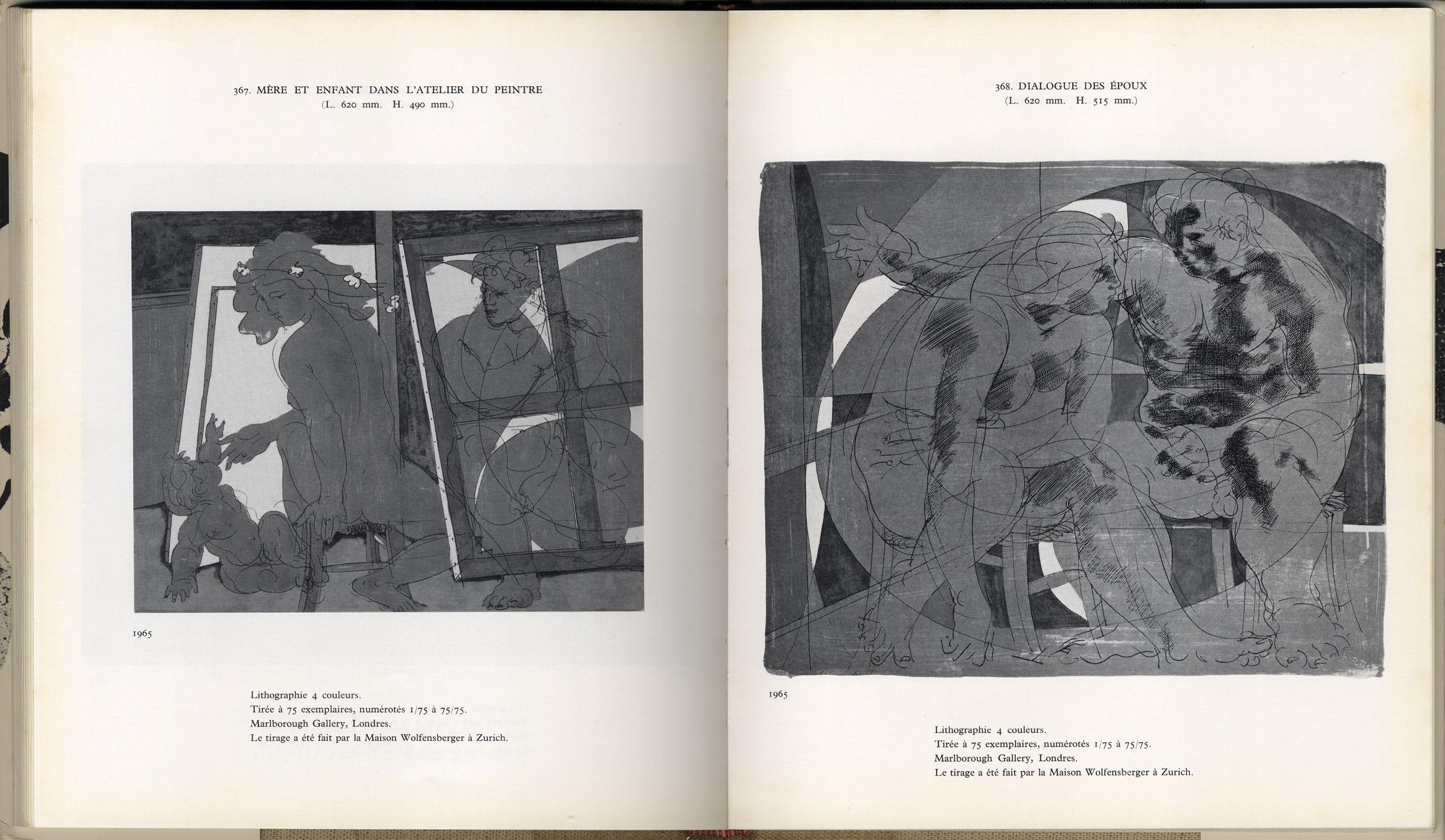 Catalogue de l'œuvre lithographié et gravé de Hans Erni Tome premier 1930-1957 / Tome deuxième 1958-1970[image5]